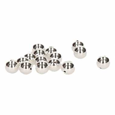 15 stuks zilveren kralen 8 mm