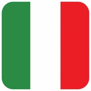 15 vierkante bierviltjes italiaans thema