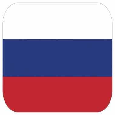 15 vierkante bierviltjes rusland thema