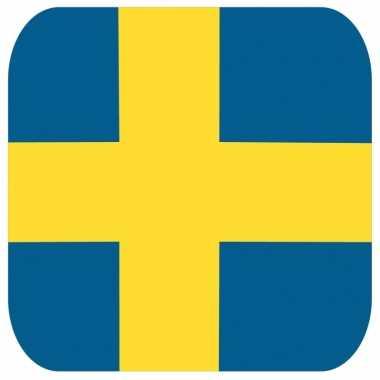 15 vierkante bierviltjes zweden thema