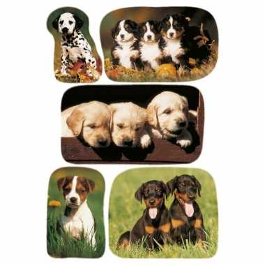 15x honden/puppy dieren stickers