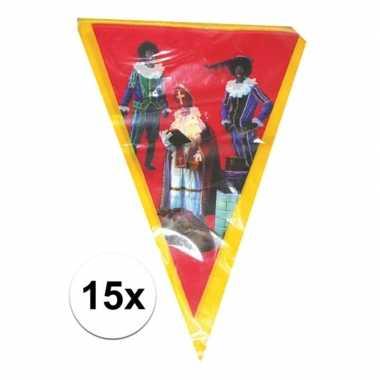 15x vlaggenlijn sinterklaas sint en piet 5 meter