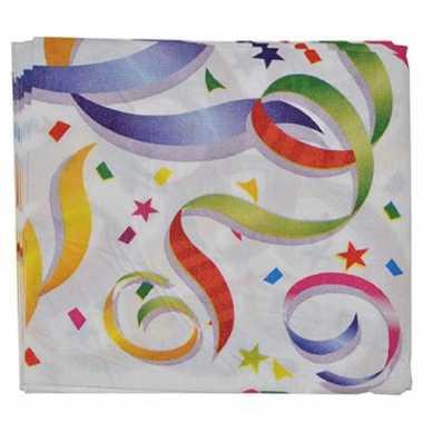 16 gekleurde servetten
