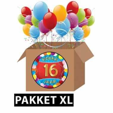 16 jaar feest versiering voordeelbox xl