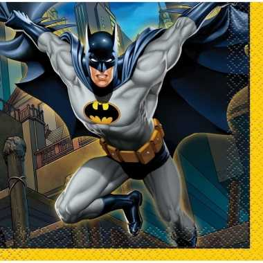 16x batman themafeest servetten 25 x 25 cm