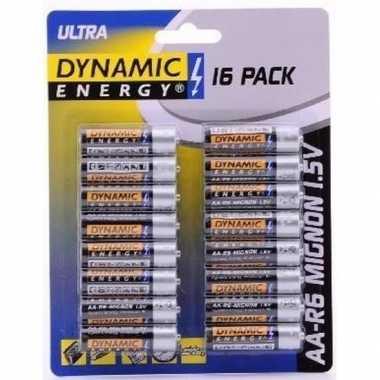 16x dynamic energy aa batterijen