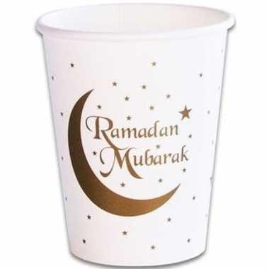 16x ramadan mubarak thema bekertjes 256 ml