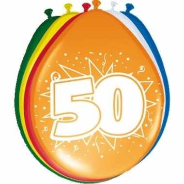 16x stuks ballonnen 50 jaar 30 cm