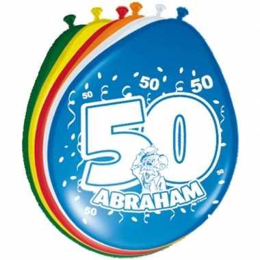 16x stuks ballonnen 50 jaar abraham 30 cm