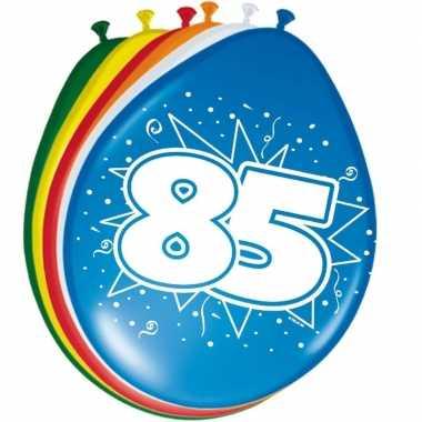16x stuks ballonnen 85 jaar 30 cm