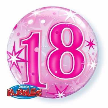 18 jaar feest folie ballon gevuld met helium