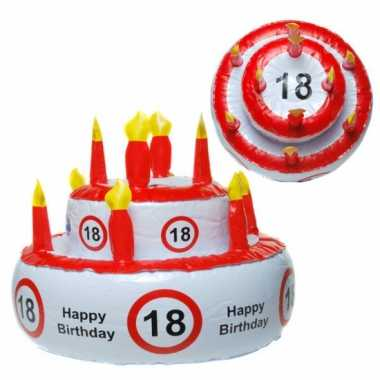 18 jaar versierings taart