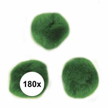180x knutsel pompons15 mm groen