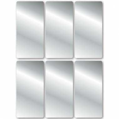 18x zilveren etiketten