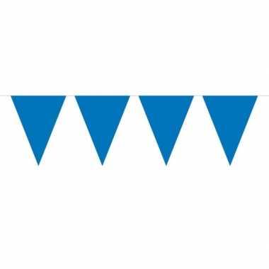 1x mini vlaggenlijn / slinger blauw 300 cm
