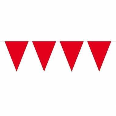 1x mini vlaggenlijn / slinger rood 300 cm