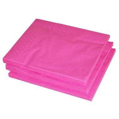 2-laags servetten fuchsia roze kleur 25 stuks