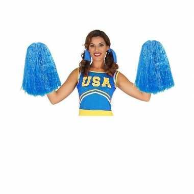 2 stuks cheerballs blauw 33 cm