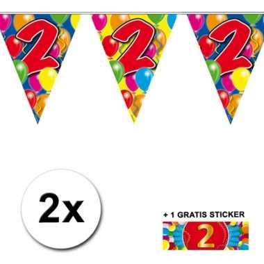 2 vlaggenlijnen 2 jaar met gratis sticker
