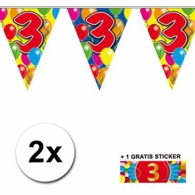 2 vlaggenlijnen 3 jaar met gratis sticker