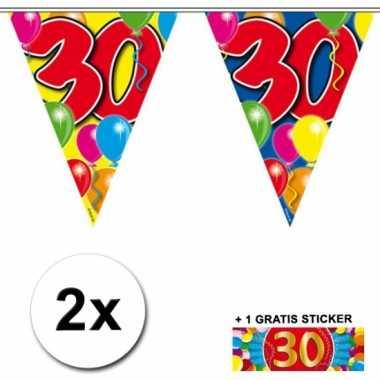 2 vlaggenlijnen 30 jaar met gratis sticker