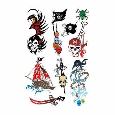 27x piraten thema plak tattoo stickers
