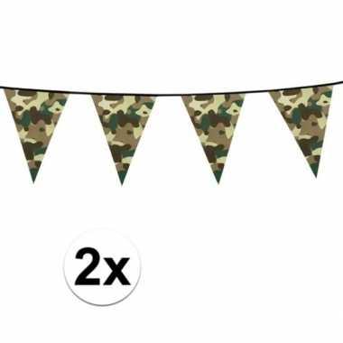 2x legerprint vlaggenlijn 6 meter