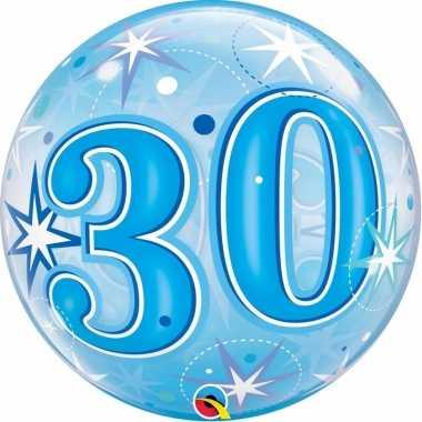 30 jaar feest folie ballon gevuld met helium