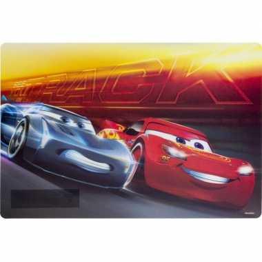 3d placemat disney cars rood/geel 42 x 28 cm