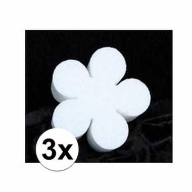 3x piepschuim lente bloemen 10 cm