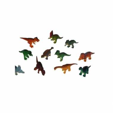 3x plastic speelgoed dinosaurussen van 16 cm