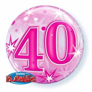40 jaar feest folie ballon gevuld met helium