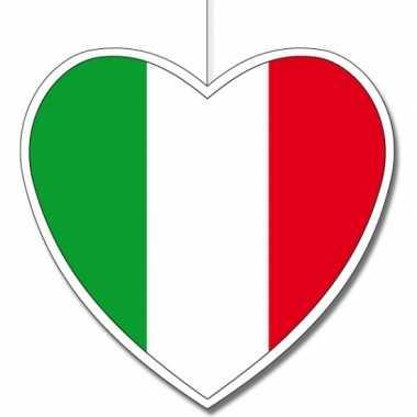5x italie hangdecoratie harten 14 cm