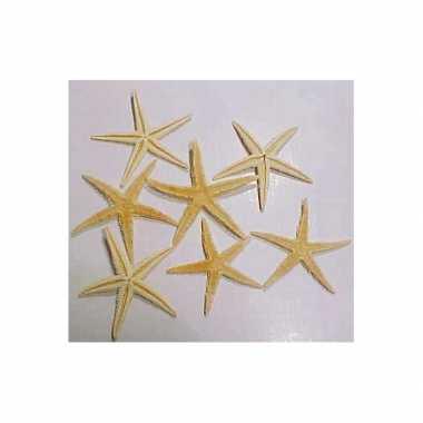 5x stuks decoratie zeesterren 10 cm