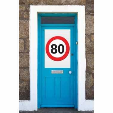 80 jaar stopbord poster a1