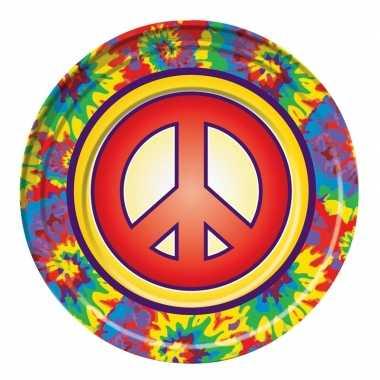 8x hippie themafeest borden 22 cm