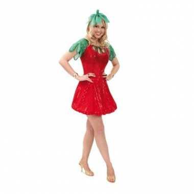 Aardbeien outfit voor dames