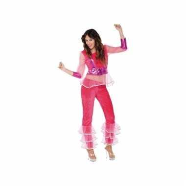 Abba look-a-like kostuum roze