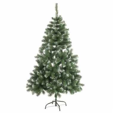 Abies kunst kerstboom met witte uiteinden