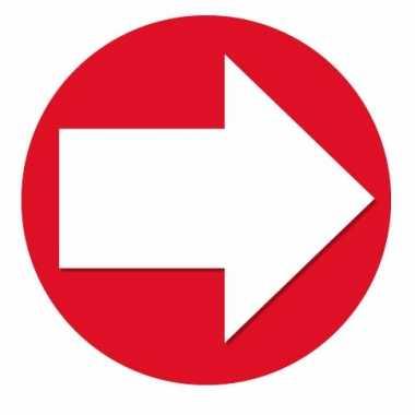 Accent pijl sticker rood 14,8 cm