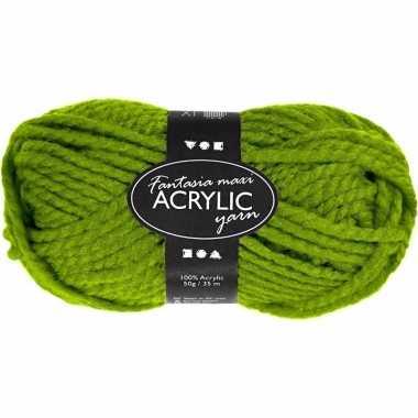 Acryl haak garen groen 50 gram