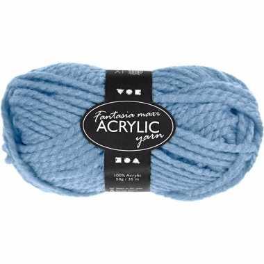 Acryl haak garen licht blauw 50 gram