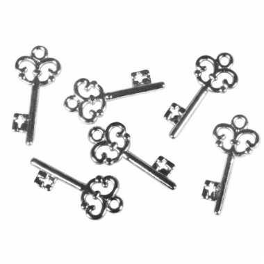 Acryl huis sleuteltjes 2,3 cm