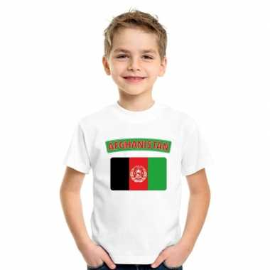 Afghaanse vlag kinder shirt wit