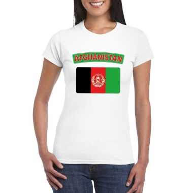 Afghaanse vlag shirt wit dames