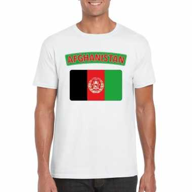 Afghaanse vlag shirt wit heren