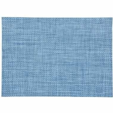 Afneembare placemat blauw 45 x 30 cm