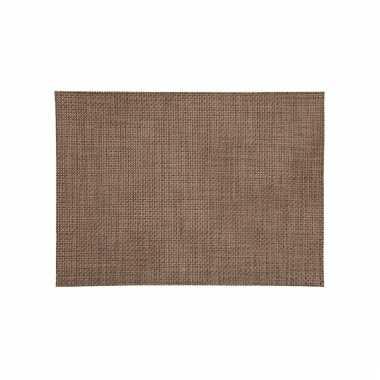 Afneembare placemat bruin 45 x 30 cm