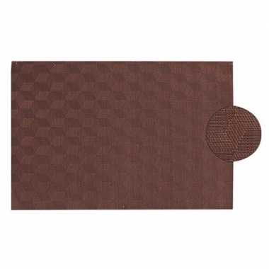 Afneembare placemat donker bruin45 x 30 cm