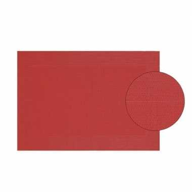 Afneembare placemat rood 45 x 30 cm